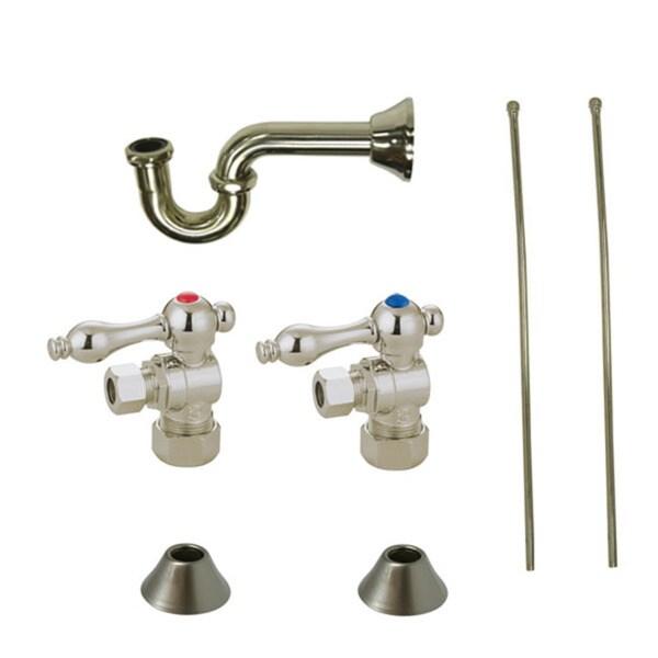 Decorative Satin Nickel Plumbing Supply Kit