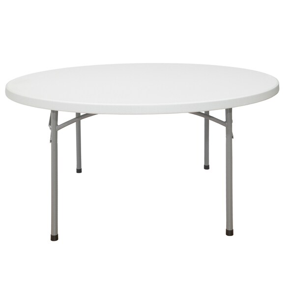 Blow-molded Round 60-inch Lighweight Folding Table