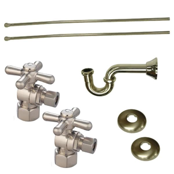 Decorative Satin Nickel Plumbing Supply Kit (Drain, Shut Off Valves and Supply Lines) 10879946
