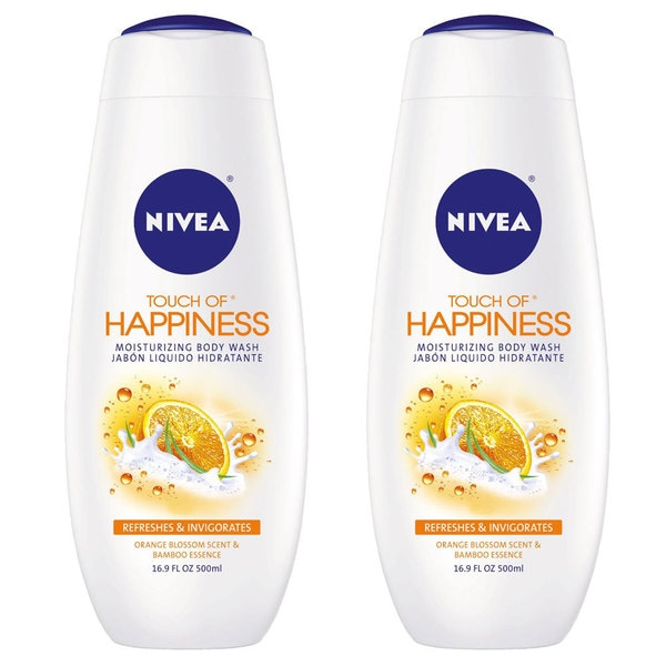 Nivea Moisturizing Touch of Happiness 16.9-ounce Body Wash (Pack of 2)