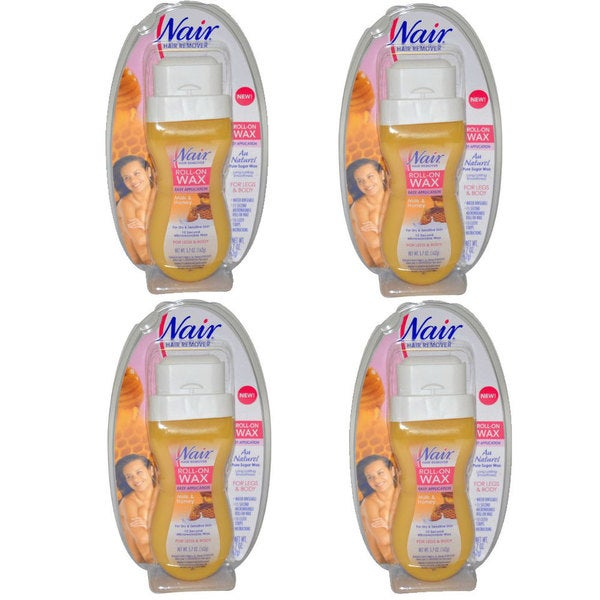 Nair Milk and Honey Roll-On Wax for Legs and Body (Pack of 4)
