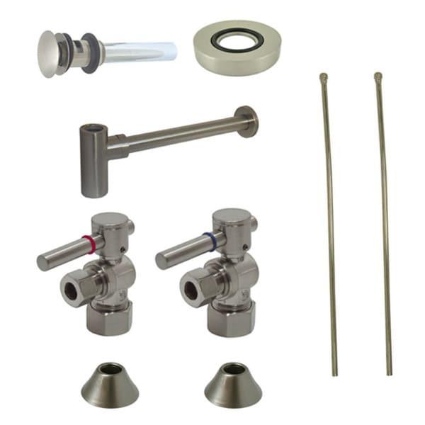 Satin NIckel Vessel Sink Plumbing Supply Kit