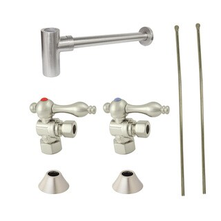 Decorative Satin Nickel Plumbing Supply Kit