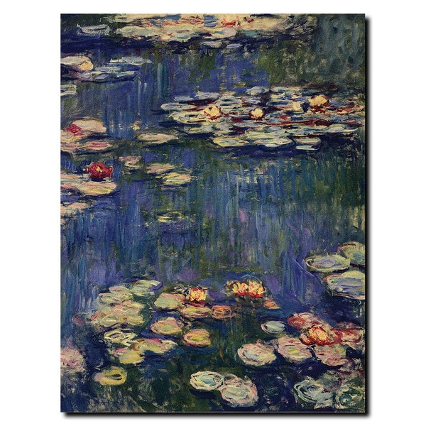 Claude Monet 'Water Lilies,1914' Canvas Art