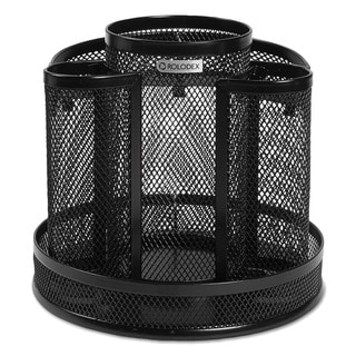 Rolodex Black Wire Mesh Spinning Desk Sorter