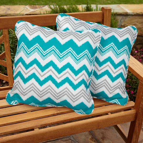 Tropic Zazzle Square Corded Outdoor Pillows (Set of 2)
