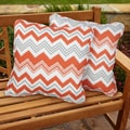 Tango Zazzle Square Corded Outdoor Pillows (Set of 2)