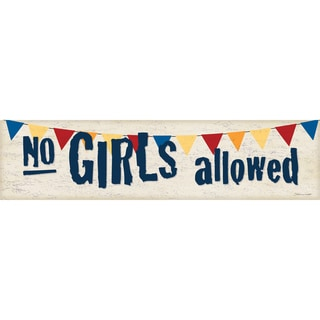 No Girls Allowed'  Paper Print (Unframed)