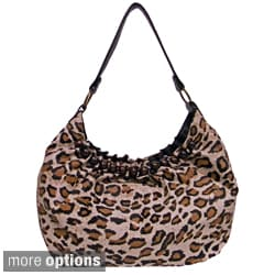 Bueno 'Savannah' Animal Print Hobo Bag