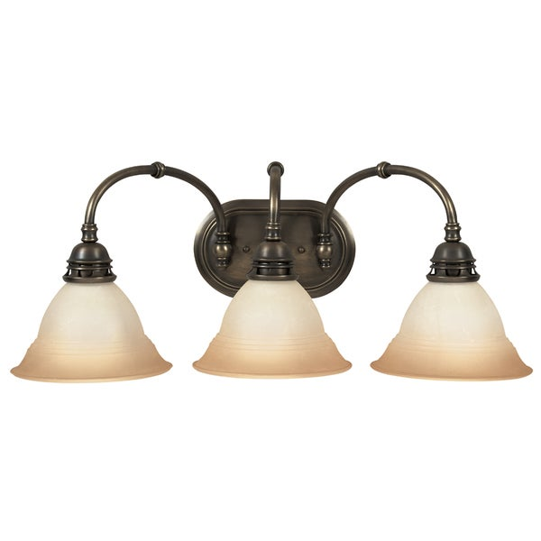 Bathroom Vanity Lights Antique Brass : Antique Brass Transitional 3-light Bath/ Vanity