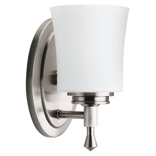 Nickel Transitional 1-light Wall Sconce