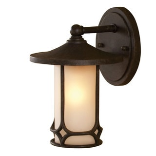 Aged Bronze Transitional 1-light Outdoor Wall Sconce