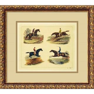 Equestrian Leaps' Framed Art Print