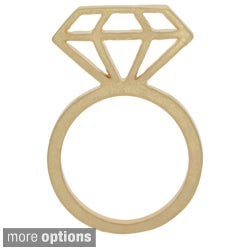 NEXTE Jewelry Goldtone or Silvertone Gem Silhouette Ring