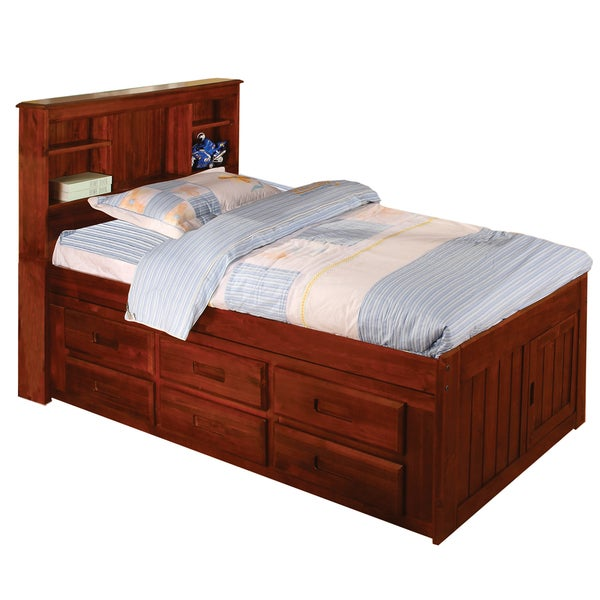 Merlot Twin Bookcase Bed