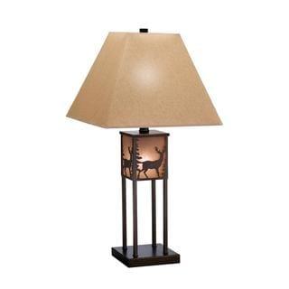 Bronze Three-light Table Lamp