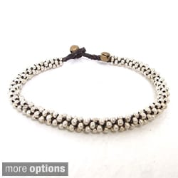 Brass or Silver Bead Rounded Anklet (Thailand)