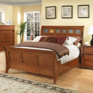 Durango Solid Dark Birch Sleigh Bed