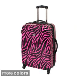 American Travel 25-inch Zebra Expandable Lightweight Hardside Spinner Upright Luggage