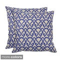 Villa Linen London Print Throw Pillows (Set of 2)