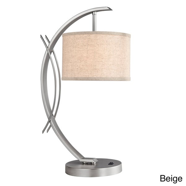 Eclipse 1-light Satin Nickel Table Lamp