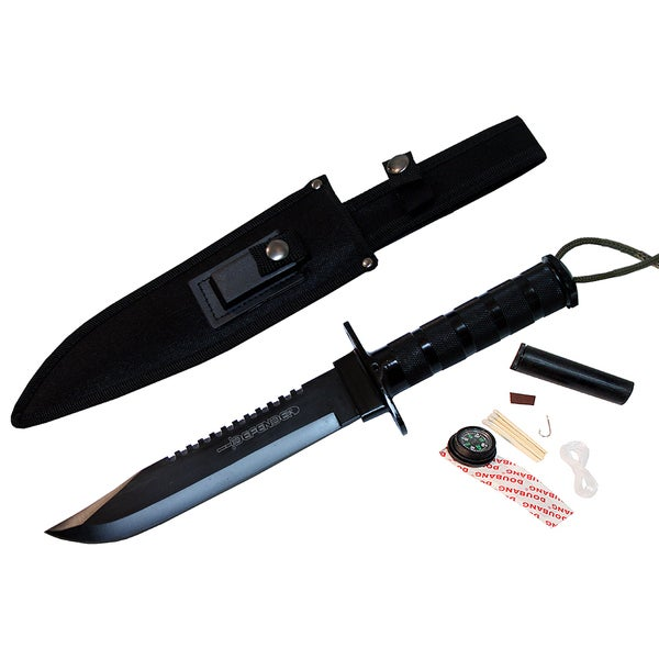 14-Inch Heavy Duty Carbon Steel Survival Knife Kit
