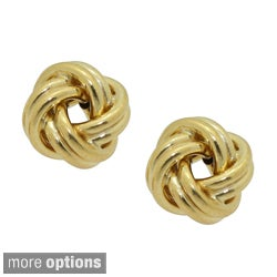 Gioelli Gioelli 14k Gold Polished Love Knot Earrings