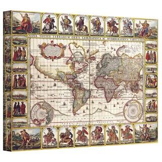 N.I. Piscator 'Nova Totius Terrarum Orbis Geographica ac Hydrographica Tabula' Gallery-wrap