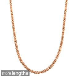 Fremada 18k Gold over Silver 3.55-mm Byzantine Necklace (18-24 inches)