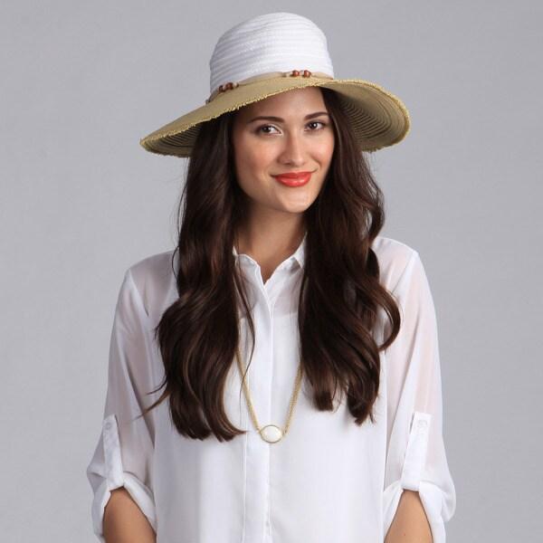 Swan Hat Women's Floppy Straw Packable Hat