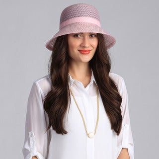 Swan Hat Women's Solid Pink Crinalin Packable Hat
