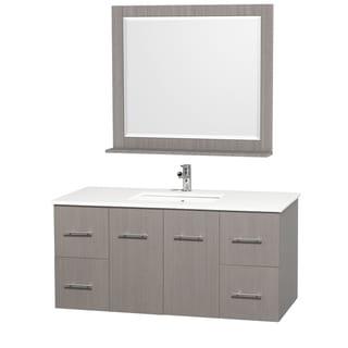 Centra Grey Oak/ White 48-inch Single Bathroom Vanity Set