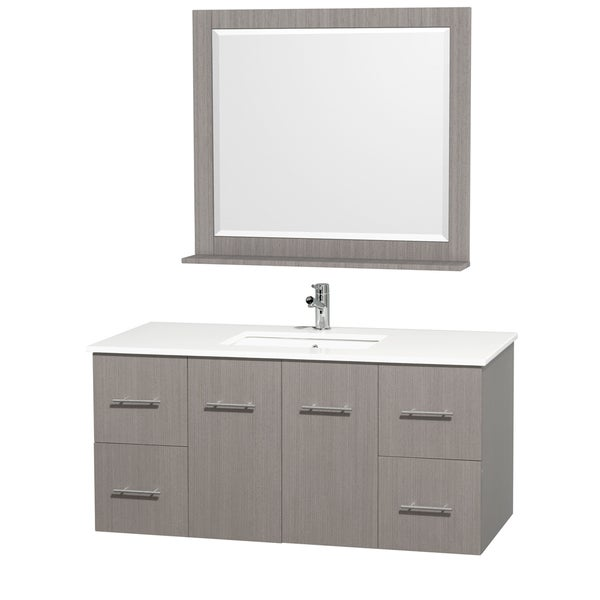 collection 39 amare 39 48 inch grey oak white top white sink vanity