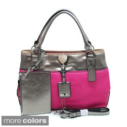 Dasein Women's Metallic Contrast Shoulder Bag