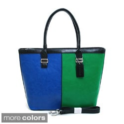 Dasein Women's Colorblock Tote Bag
