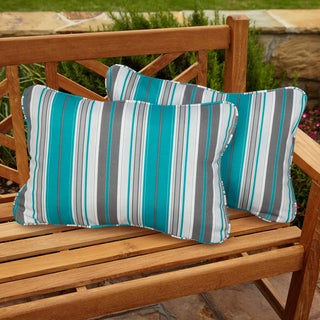 Tropic Stripe Corded Outdoor Pillows (Set of 2)