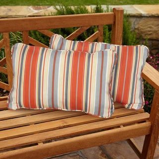 Tango Stripe Corded Indoor/ Outdoor Throw Pillows (Set of 2)