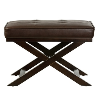 Cortesi Home Faux Leather Ottoman