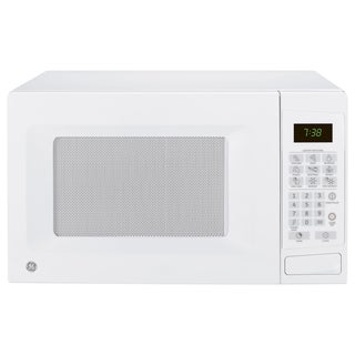 GE White 0.7 Cubic Feet Countertop Microwave Oven