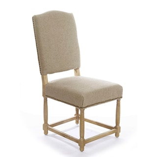Gallery Empire Upholstered Linen Side Chair