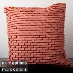 Decorative Carson Solid Ruffled Square Pillow