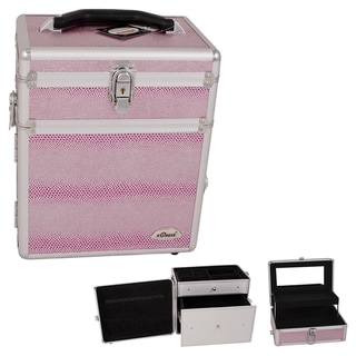 Sunrise Pink Snake Skin Jewelry Storage and Cosmetic Case