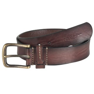 Tommy Hilfiger Men&#39;s Brown Leather Casual Belt