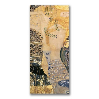 Gustav Klimt 'Water Serpents' Canvas Art