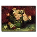Vincent van Gogh 'Peonies and Roses' Canvas Art
