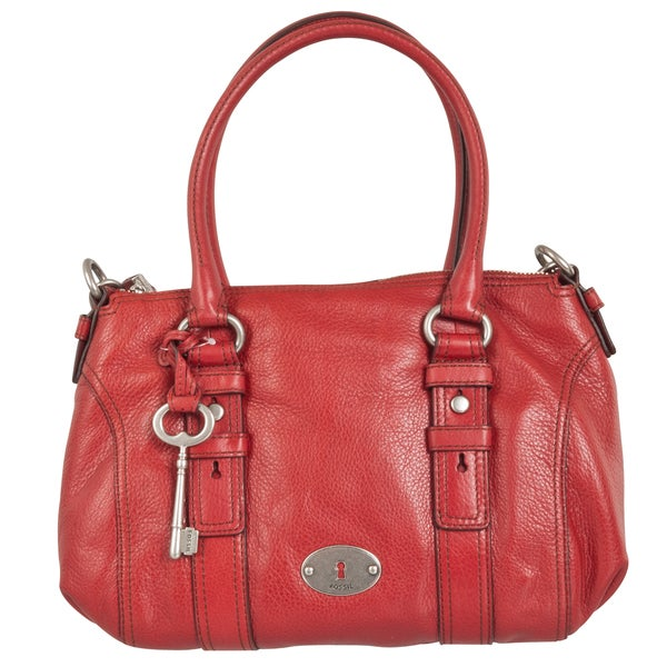 Fossil 'Maddox' Pebbled Leather Satchel