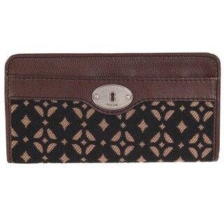 Fossil Women's 'Maddox' Leather Zip Clutch Wallet