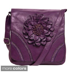 Donna Bella Designs 'Modern Hippie' Floral Accent Crossbody Bag