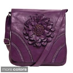 Donna Bella Designs 'Modern Hippie' Floral Accent Crossbody Bag