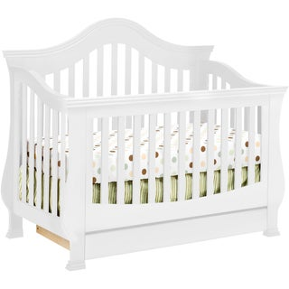 Million Dollar Baby Ashbury 4-in-1 Convertible Crib with Toddler Rail in White